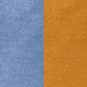 Cuir Les Georgettes 14mm bleu denim/canyon