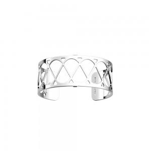 Bracelet Les Georgettes Coeur 25mm argenté