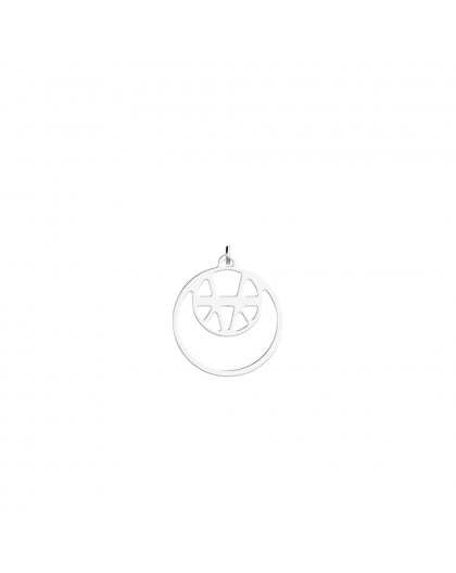 Pendentif Georgettes Ibiza double rond 16mm argent