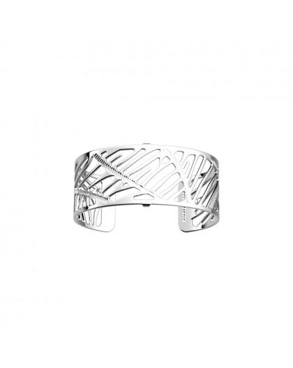 Bracelet Les Georgettes Zebrures 25mm argenté