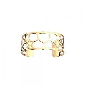 Bracelet Les Georgettes Leopard 25mm doré