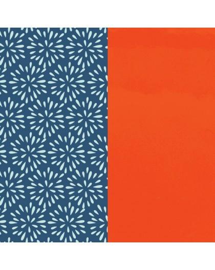 Cuir les Georgettes 14mm Plumetis/Orange Vernis