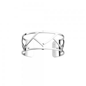 Bracelet Les Georgettes Tresse 25mm argenté