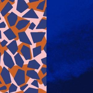 Cuir les Georgettes 25mm Girafe/Bleu vernis