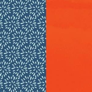 Cuir les Georgettes 25mm Plumetis/Orange vernis