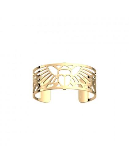 Bracelet Les Georgettes Scarabée doré 25mm