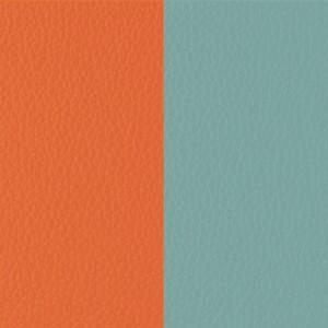 Cuir Les Georgettes 25mm orange/bleu nimbus
