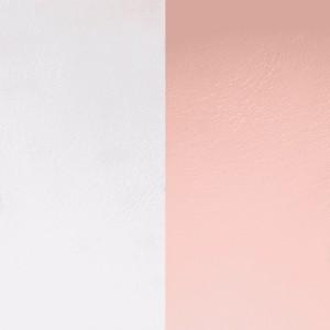 Cuir Les Georgettes 25mm rose clair/gris clair