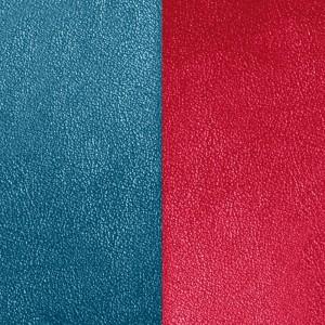Cuir Les Georgettes 25mm bleu pétrole/framboise