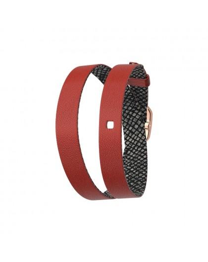 Bracelet montre Georgettes cuir double réversible