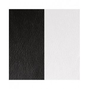 Cuir Les Georgettes 8mm Noir/Blanc