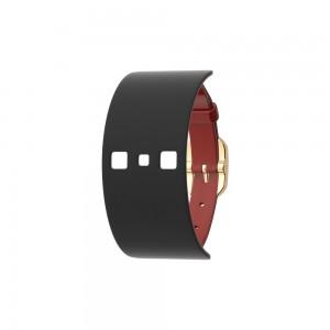 Bracelet montre Georgettes cuir large réversible