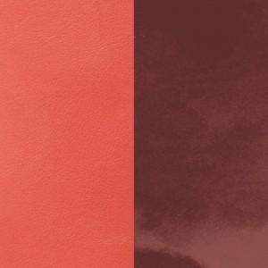 Cuir Les Georgettes 25mm prune vernis/corail