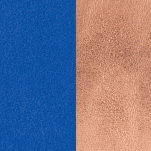 Cuir Les Georgettes 8mm Bleu outremer/Rose sirène