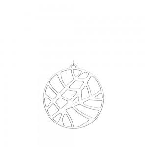 Pendentif Georgettes Fougères rond 45mm argenté
