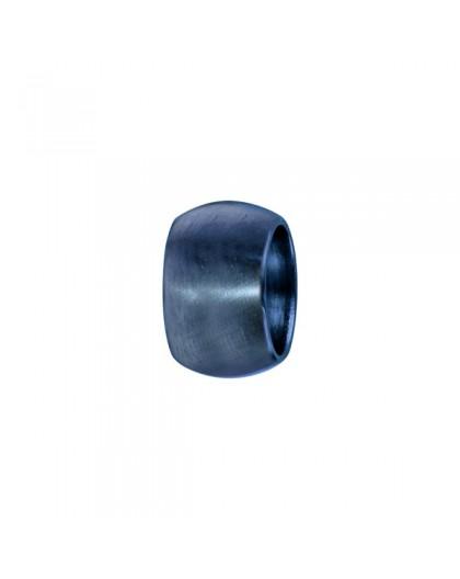 Charms acier bleu bombé lisse à graver