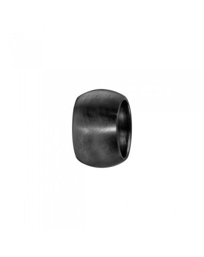 Charms acier noir bombé lisse à graver