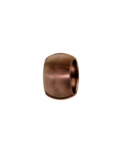 Charms acier marron bombé lisse à graver