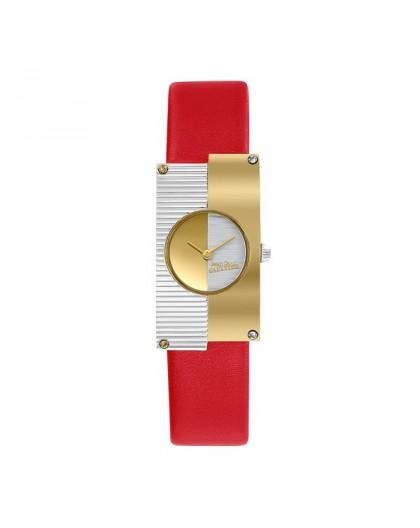 Montre Jean Paul Gaultier 8506504 cuir rouge