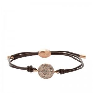 Bracelet Fossil femme JF00118791 rond strassé