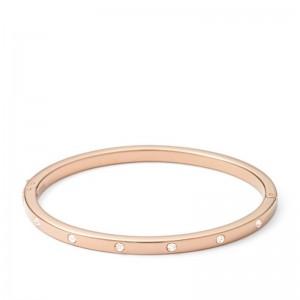 Bracelet Fossil femme JF00843791 jonc rosé