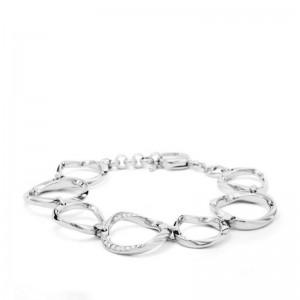 Bracelet Fossil femme JF01145040 cercles argenté