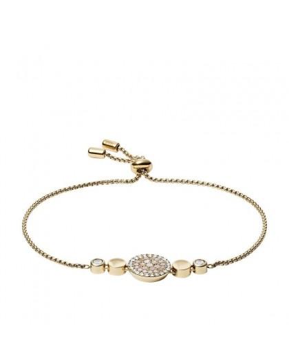 Bracelet Fossil JF03252710 femme strass doré