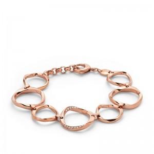 Bracelet Fossil JF01300791 femme cercles rosés