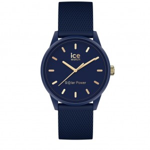 Montre Ice watch solar 018743 Navy gold small