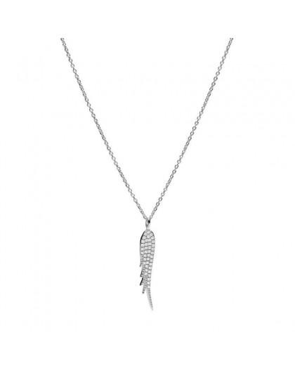 Collier Fossil JF00535040 plume argenté