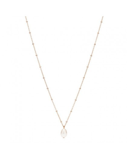 Collier Fossil JF03643791 perle rosé