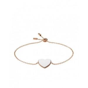 Bracelet Fossil JF03644998 coeur gravable rosé