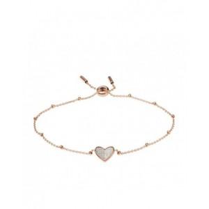 Bracelet Fossil JF03647791 coeur rosé