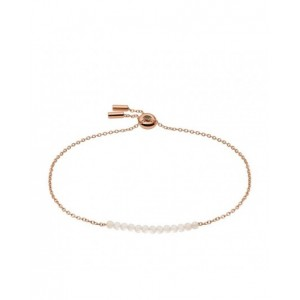 Bracelet Fossil JF03652791 perles blanches rosé