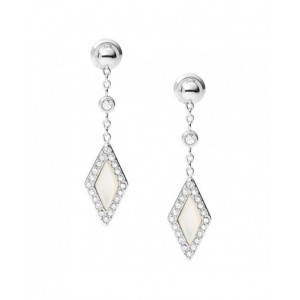 Boucles oreilles Fossil JF03658040 nacre strass
