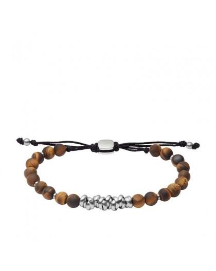Bracelet Fossil JF03676040 oeil de tigre homme