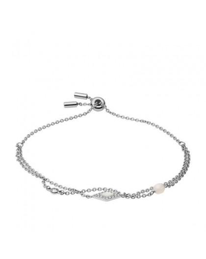 Bracelet Fossil JF03659040 nacre strass argenté