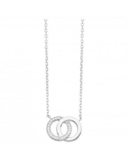 Collier argent oxydes zirconium cercles
