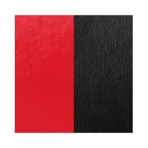 Cuir Les Georgettes 14mm Rouge verni/noir mat