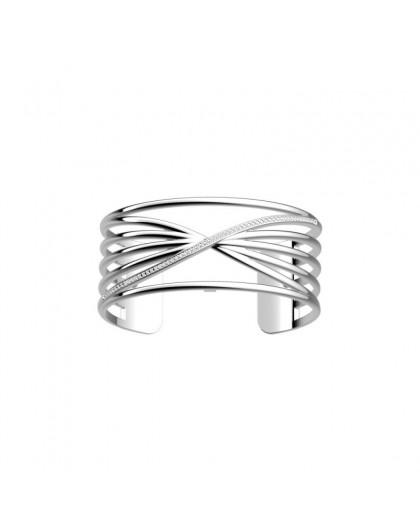 Bracelet Georgette Précieuse Louxor 25mm argenté