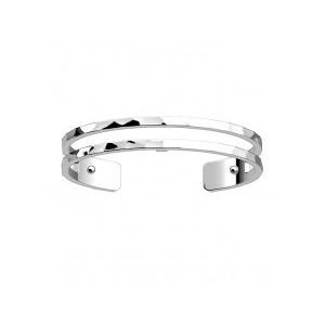 Bracelet Les Georgettes Pure martelé argenté 8mm