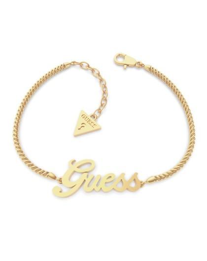 Bracelet Guess bijoux UBE79103-S logo acier doré