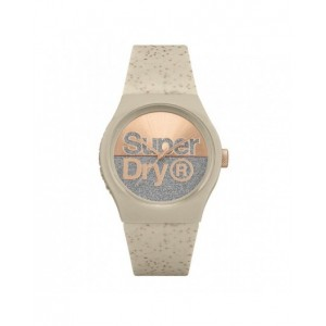 Montre Superdry mixte SYL006C beige pailletée
