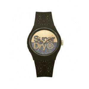 Montre Superdry mixte SYL006NG noire pailletée