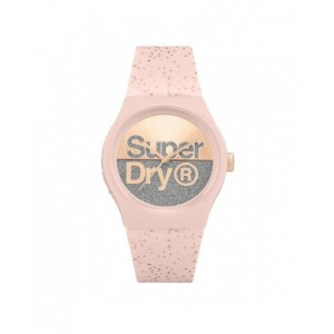 Montre Superdry mixte SYL006P rose pailletée
