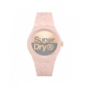 Montre Superdry mixte SYL006P rose pailletée