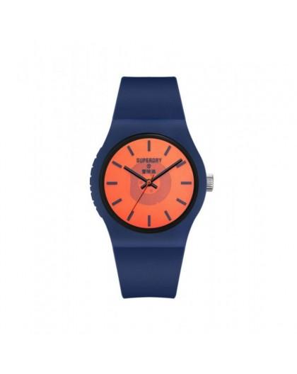 Montre Superdry mixte SYG347UO bleu orange