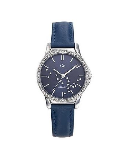 Montre GO Girl Only 699360 femme strass cuir bleu