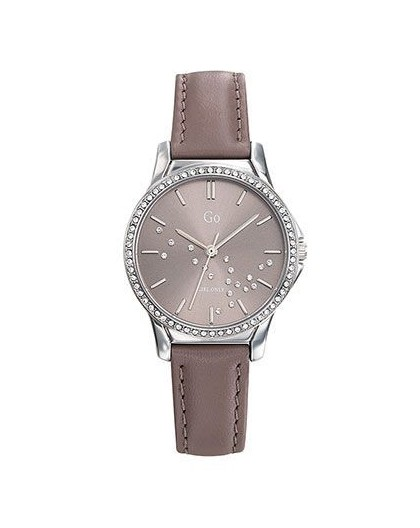 Montre GO Girl Only 699362 femme strass cuir gris