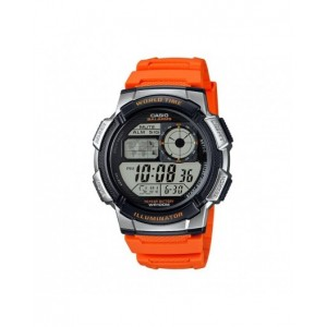 Montre Casio AE-1000W-4BVEF PU orange world time